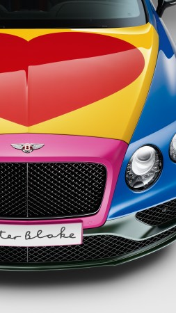 Bentley Continental GT, pop art, Peter Blake, cabriolet, hurt (vertical)