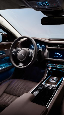 Jaguar XFL, Beijing Motor Show 2016, Auto China 2016, business sedan, interior (vertical)