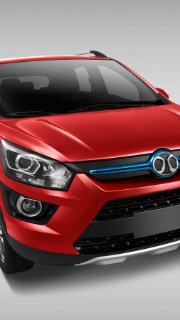 Senova EX200, electric cars, crossover, red (vertical)