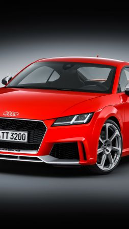 Audi TT RS Coupé (8S), Beijing Motor Show 2016, Auto China 2016, red (vertical)