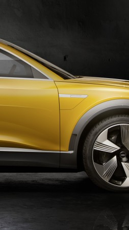 Audi h-tron quattro, hydrogen, crossover, Citrine yellow, Design Week 2016 (vertical)