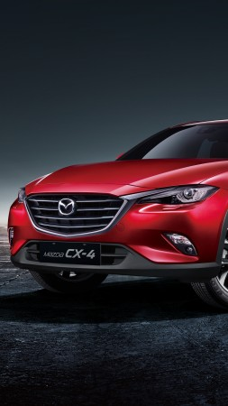 Mazda CX-4, Beijing Motor Show 2016, Auto China 2016, crossover, red (vertical)