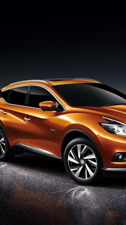 Nissan Murano, Hybrid, crossover, orange (vertical)