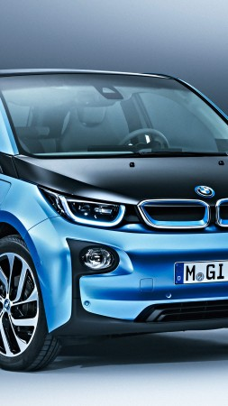 BMW i3 Protonic Blue, electric cars, electric, blue (vertical)