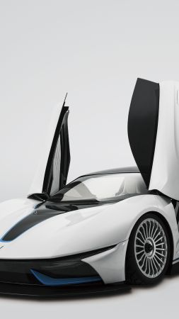 BAIC Arcfox-7, supercar, electric cars, white (vertical)