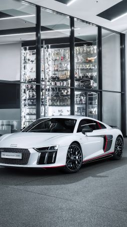 "Audi R8 V10 Plus ""selection 24h"", supercar, electric cars, white (vertical)"
