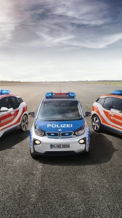 Bmw i3, electric cars, RETTmobil 2016, safety car (vertical)