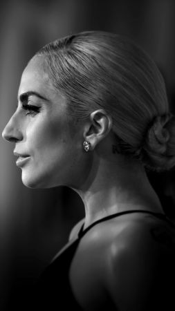 Lady Gaga, Stefani Joanne Angelina Germanotta, songwriter, record producer, philanthropist, designer, actress, silver, balloon, blonde (vertical)