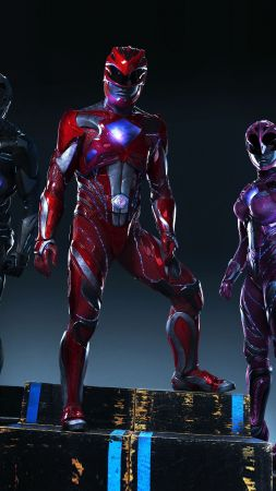 Power Rangers, team, superhero (vertical)
