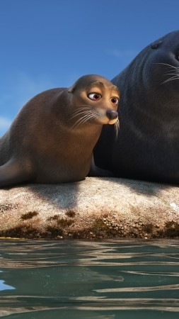 Finding Dory, seals, nemo, fish, animation