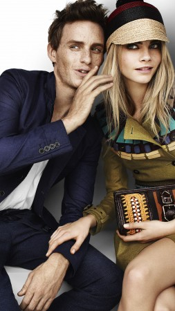 eddie redmayne, cara delevingne, model, actress, blonde, look, actor (vertical)