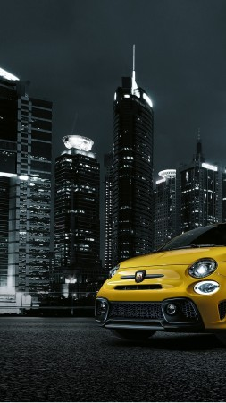Fiat Abarth 595 Facelift, hatchback, night town (vertical)