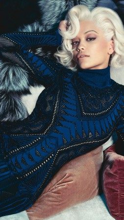 Rita Ora, Rita Sahatciu Ora, Actress, Artists, television star, sofa, dress, jewel, room, interior, blonde