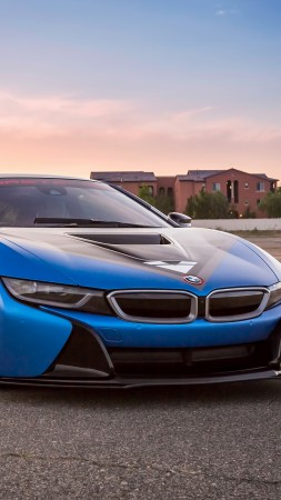Vorsteiner VR-E BMW i8, supercar, sport cars, blue (vertical)