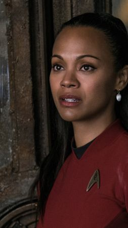 Zoe Saldana, Zoe Yadira Saldana Nazario, Actress, brunette, t-shirt, room, interior, Avatar (vertical)