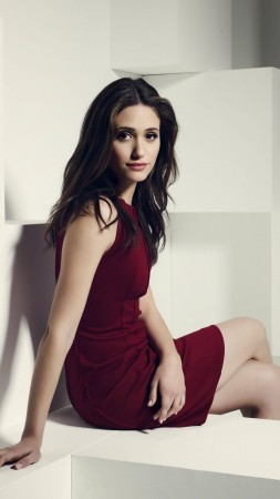 Emmy Rossum, Actress, Artists, brunette, dress, room, interior, Shameless, look, fiona granger (vertical)