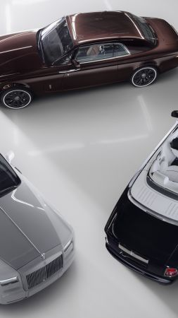 Rolls Royce Phantom Zenith Collection, luxury cars, silver (vertical)