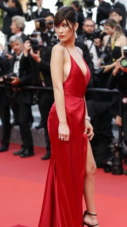 Bella Hadid, Cannes Film Festival 2016, red carpet, Most popular celebs, actress, model (vertical)