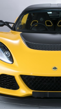 Lotus Exige S Club Racer, supercar, yellow (vertical)