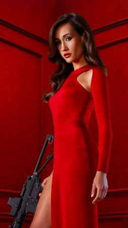 MAGGIE Q, red dress, l ook, Most popular celebs (vertical)