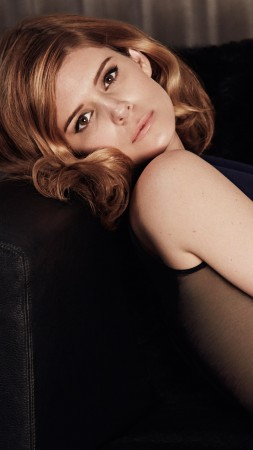 Kate Mara, Actress, red hair, dress, look, chair, American Horror Story (vertical)