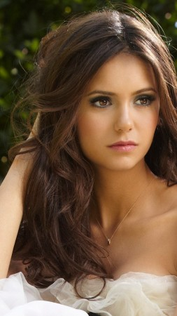 Nina Dobrev, Actress, television star, brunette, model, gymnast, look, wedding dress, Vampire Diaries (vertical)