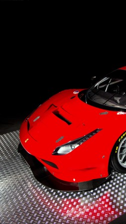 Ferrari 488 GTE, sport car, red (vertical)