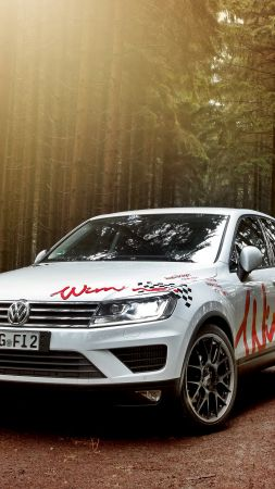 Wimmer RS Volkswagen Touareg, wimmer, white, forest (vertical)