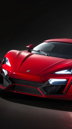 Lykan HyperSport, supercar, W Motors, sports car, speed, red (vertical)
