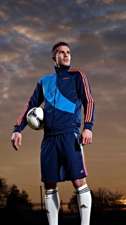 Robin van Persie, manchester united footballer, soccer, football, The best players 2016 (vertical)