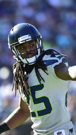 Richard Sherman, American football, NFL, Seattle Seahawks (vertical)