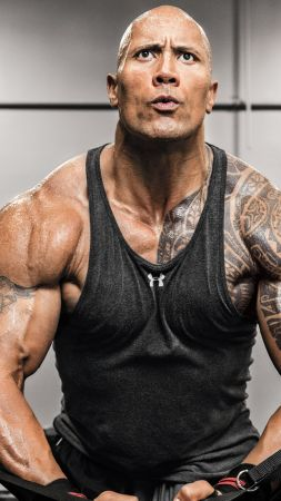 Dwayne Johnson, exercise, athletem, actor (vertical)