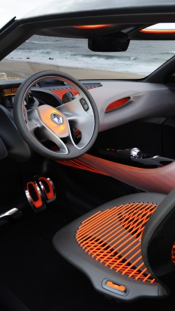 Renault Captur, orange, crossover, interior (vertical)