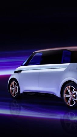 Volkswagen BUDD e, CES 2016, electric, electric cars, microbus, silver (vertical)