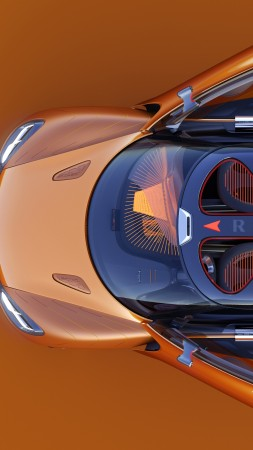 Renault Captur, orange, crossover (vertical)