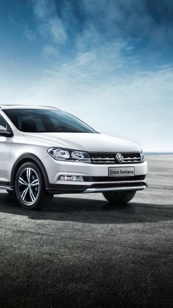 Volkswagen Cross Santana, white, Estate (vertical)