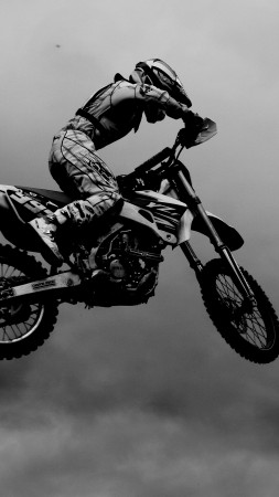 motocross, fmx, rider, freestyle, maneuver, Flying Rider (vertical)