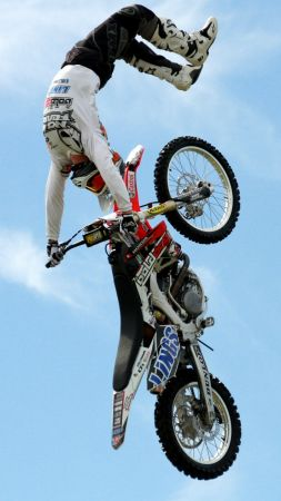 motocross, fmx, rider, freestyle (vertical)
