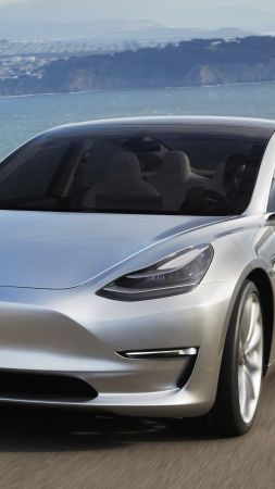 Tesla Model 3 Prototype, electric cars, sedan, Elon Musk (vertical)