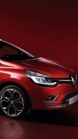 Renault Clio, hatchback, red