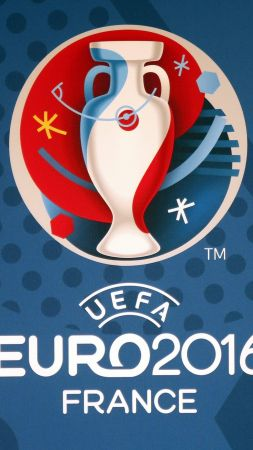 euro 2016, football, logo, France, Geneva (vertical)