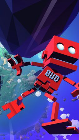 Grow Up, E3 2016, platform, red robot, Microsoft Windows, PlayStation 4, Xbox One (vertical)