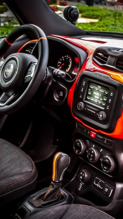 Jeep Renegade Hells Revenge, fire, jeep, red (vertical)