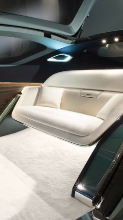Rolls-Royce Vision Next 100, future cars, futurism, interior (vertical)