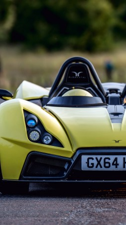 Elemental Rp1, roadster, track, supercar, yellow (vertical)