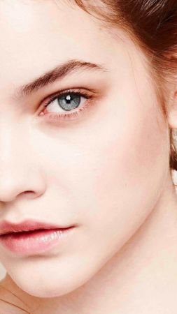 Barbara Palvin, model, look, white (vertical)