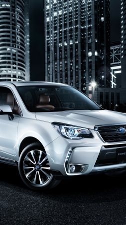 Subaru Forester, crossover, night (vertical)