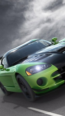 Dodge Viper GTS-R, Commemorative Edition ACR, green, speed (vertical)
