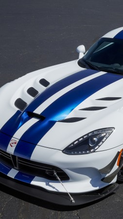Dodge Viper GTS-R, Commemorative Edition ACR, white, speed (vertical)