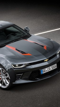 Chevrolet Camaro 50th Anniversary Edition, black, speed